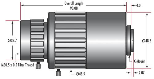 1.0X - 3.0X Telecentric VariMagTL™ Lens (#88-387)